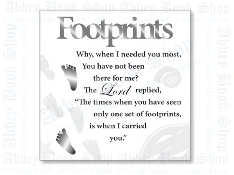 Block Art Wood Plaque – Footprints
