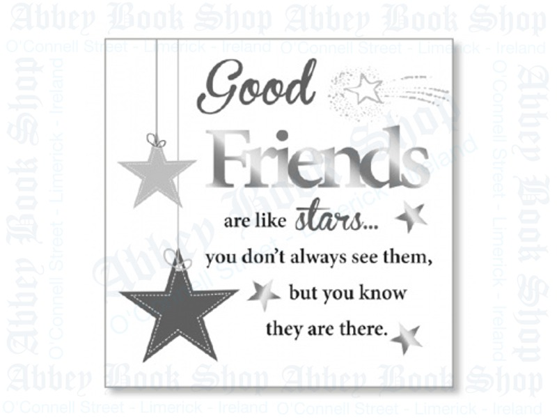 Block Art Wood Plaque – Friendship
