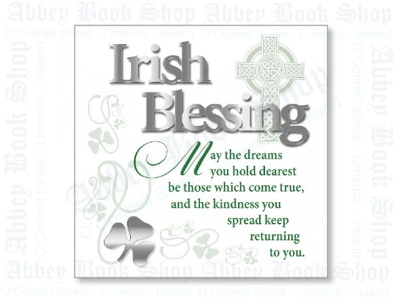 Block Art Wood Plaque – Irish Blessing