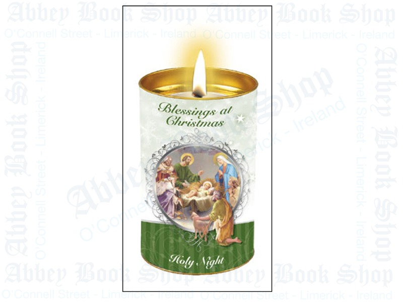 Christmas Candle – Blessings Holy Night (Green)