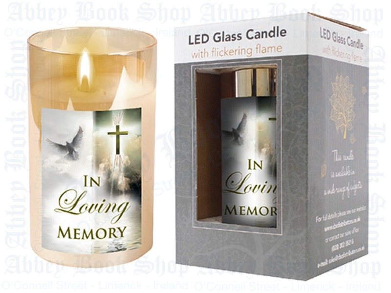 LED Glass Candle – In Loving Memory